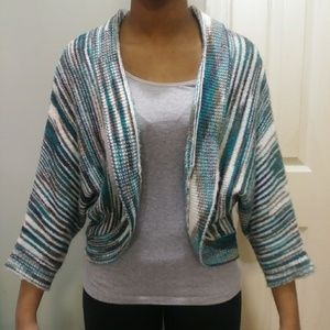 Tulle Women's Open Front Cardigan Size Large Green